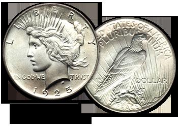 Peace Silver Dollars - $1