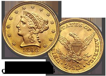 Liberty Gold Quarter Eagles - $2.5 Gold Pieces