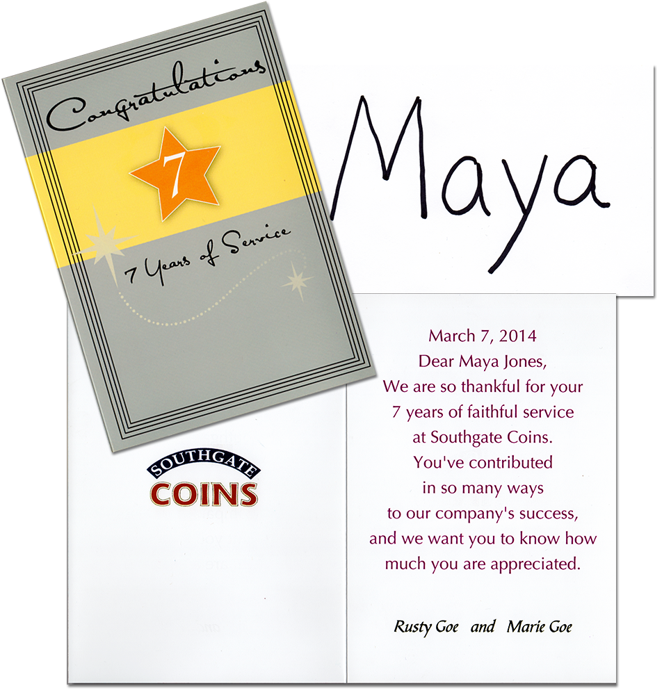Maya Jones' 7 year anniversary celebration at Southgate Coins in Reno