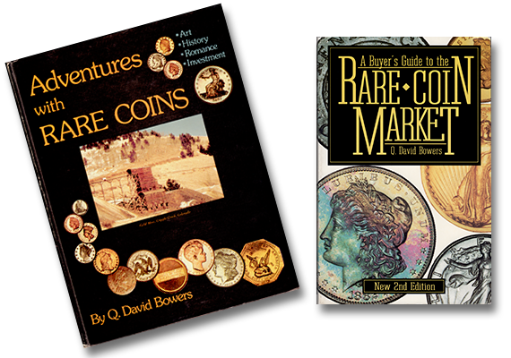 Some of the literary works of Prominent Coin Collector Q. David Bowers.