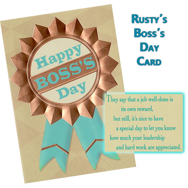 Southgate Coins manager Maya Jones honors coin shop owner Rusty Goe on Boss's Day 2013