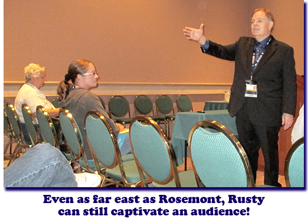 Rusty Goe lectures at the Carson City Coin Collectors of America meeting at the 2013 American Numismatic Association's World's Fair of Money Convention