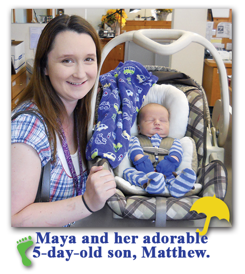 Southgate Coins manager Maya Jones visits with her new baby son - Buy and sell gold daily