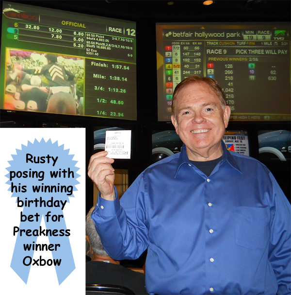 Southgate Coins owner Rusty Goe placed a winning bet on the Preakness horse race, just in time for his birthday at the Reno coin shop