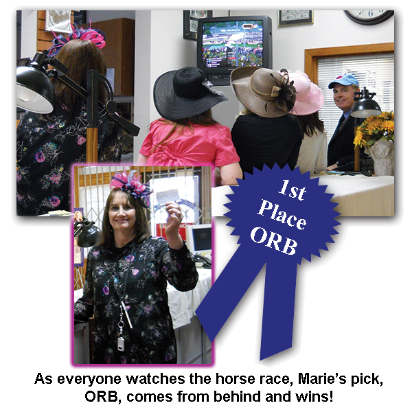 Southgate coins owner Marie Goe won her Kentucky Derby Day bet at the coin shop's annual event