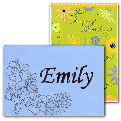 Southgate coins employee Nicole Hoff decorates a birthday card for Emily