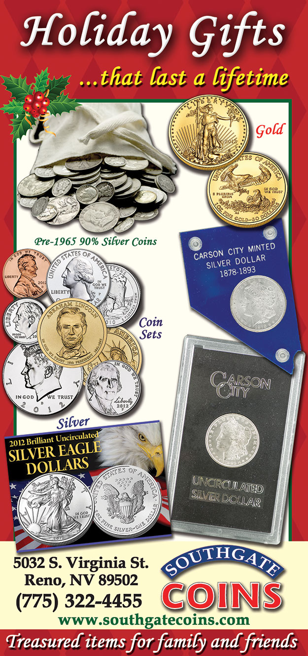 Find the perfect holiday gift at Southgate Coins in Reno - Coins, Gold, Silver
