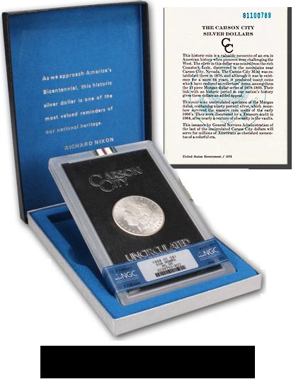 Uncirculated Carson City GSA Morgan Silver Dollars at Southgate Coins in Reno