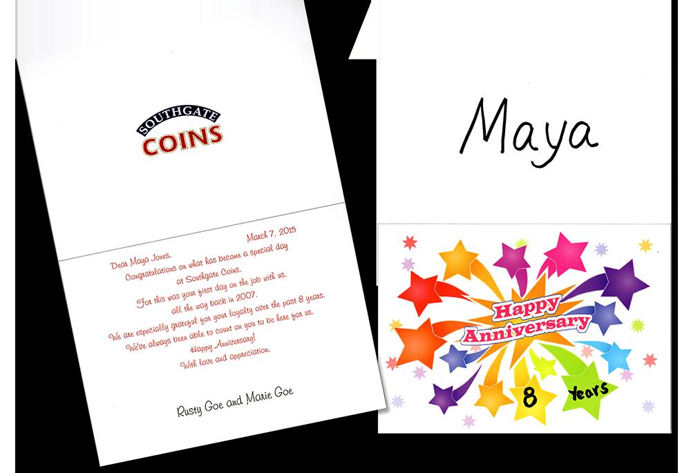 Maya-8-Year-Anniversary-Card-Southgate-Coins