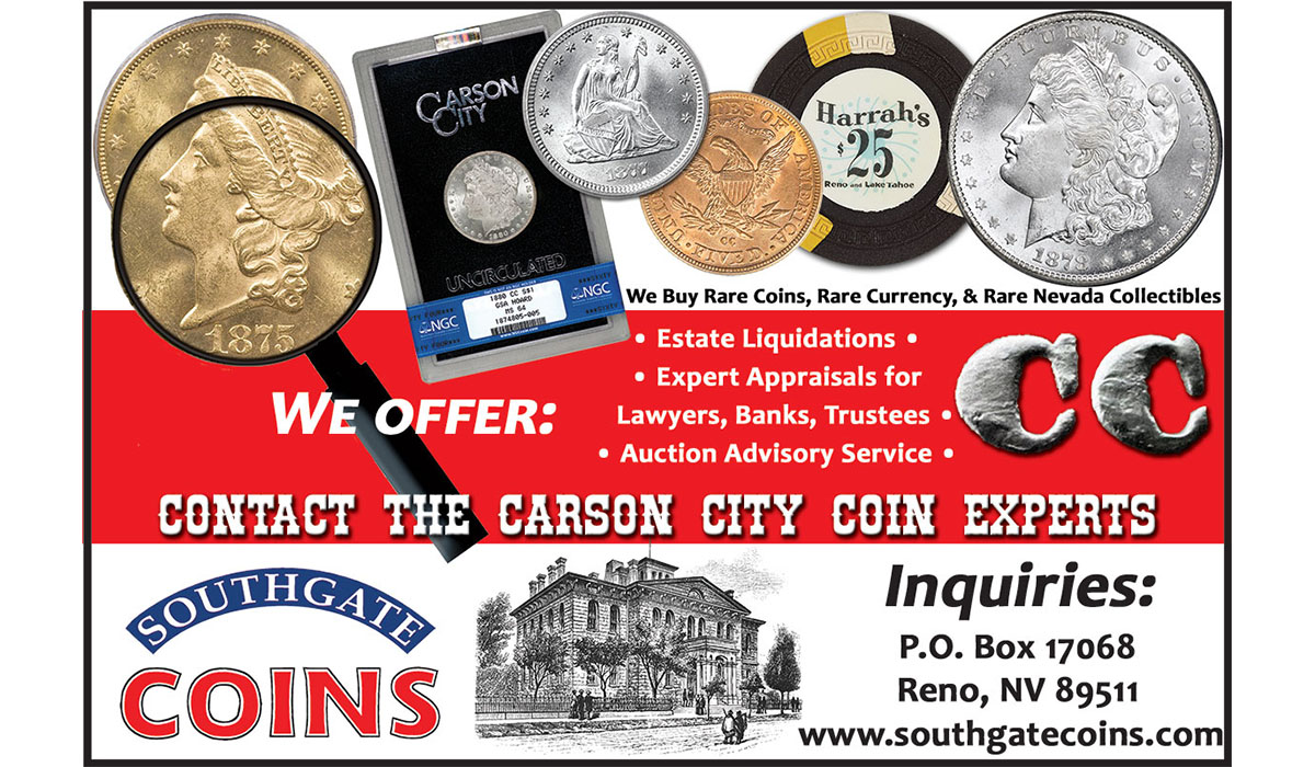 Southgate Coins Offers Appraisals, Estate Liquidations, and Auction Representation