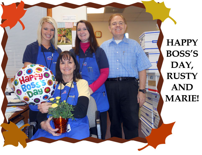 Employees honor Rusty and Marie Goe on Boss's Day 2011