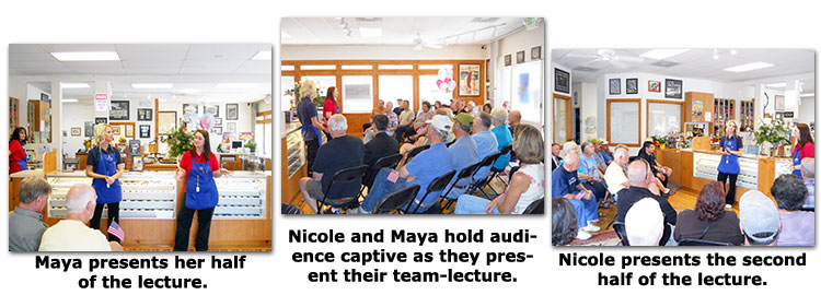 Maya Roberts and Nicole Hoff present a numismatic Lecture at Southgate Coins