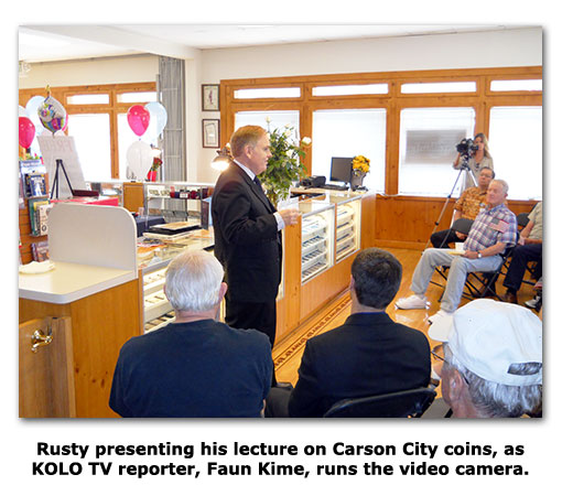 Numismatic expert Rusty Goe gives lecture at Southgate Coins 10 year anniversary Open House