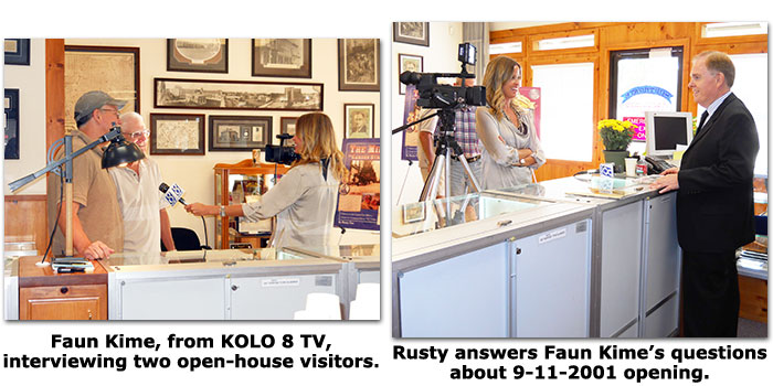 KOLO-8 TV's Faum Kime covers Southgate Coins 10 year anniversary open house