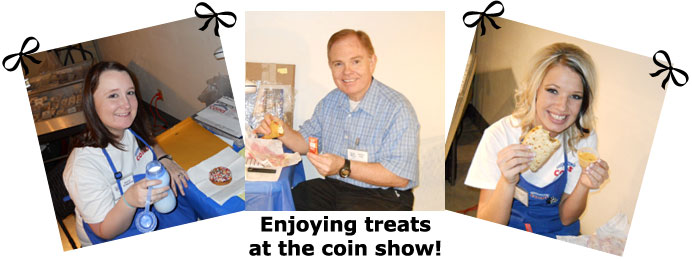 Southgate Coins staff eats lunch at Carson City Coin Show