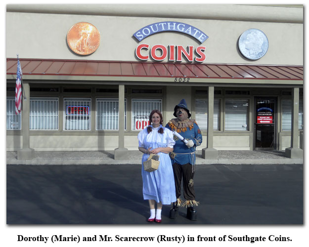 Southgate Coins owner continue the tradition of Halloween Dress-up Day