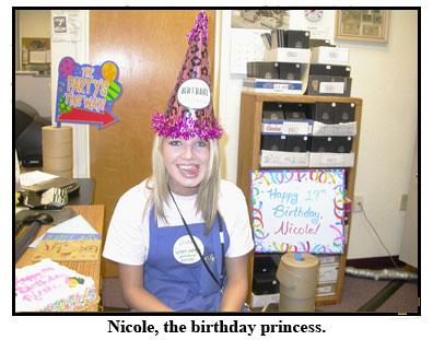 Nicole, Southgate Coins' birthday princess