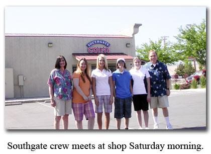 Southgate Coins staffers meet for a golf tournament