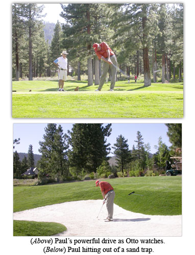 C4OA treasurer Paul Sudmeier drives the golf ball