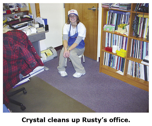 Rusty's office gets a much needed cleanup at the coin shop