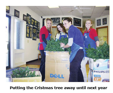 Southgate Coins puts the Christmas tree away for another year.