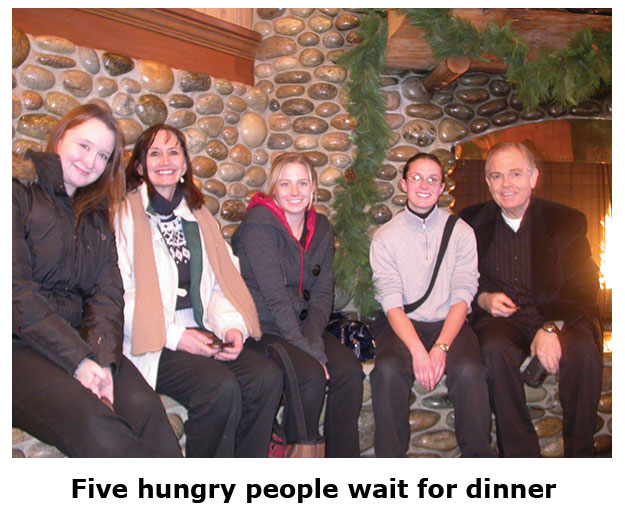 Southgate Coins staff goes to Claim Jumper for a Christmas dinner