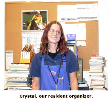 Crystal is known for her organizational skills