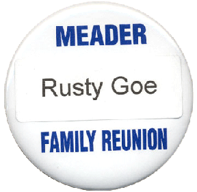 Rusty has his own Meader Family Badge