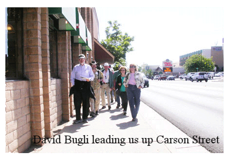 David Bugli leading us up Carson Street