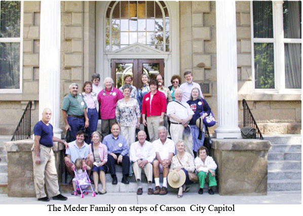 Meder Family on the Steps of Carson City Capitol