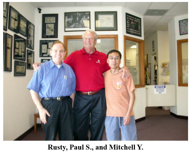 Southgate Coins owner Rusty Goe meets with Paul and Mitchell to talk coins