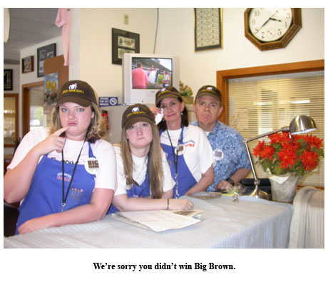 Sadness at the coin shop: Big Brown loses the Belmont Stakes and the Triple Crown