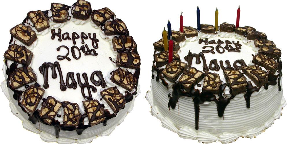 Maya's decadent birthday cake