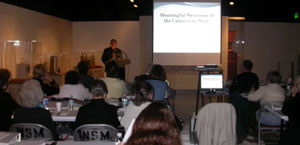 Southgate Coins owner Rusty Goe lectures at the Nevada State Museum
