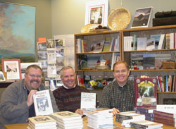 Rusty Goe at a book signing for his new James Crawford book