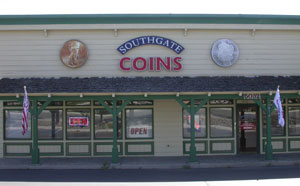Southgate Coins' storefront before the renovation