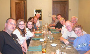 Members of the Carson City Coin Collectors of America gather for dinner after the coin show