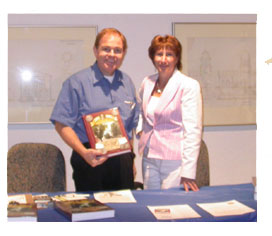 Rusty Goe with Nevada State Museum Gift Shop manager