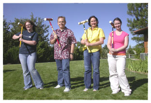 Southgate coins employees join together for a game of croquet
