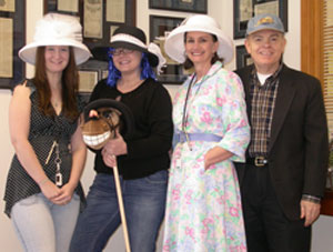 Decorative hats are part of the special occasion of Kentucky Derby Day