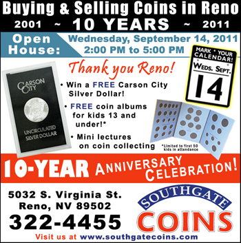 Southgate Coins hosts 10-year anniversary celebration at their Reno coin shop