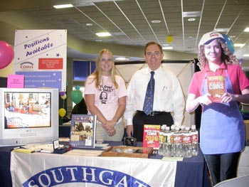 Southgate Coins owner Rusty Goe works a staffing event