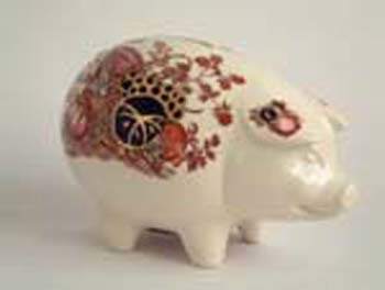 Keeping coins in a piggy bank