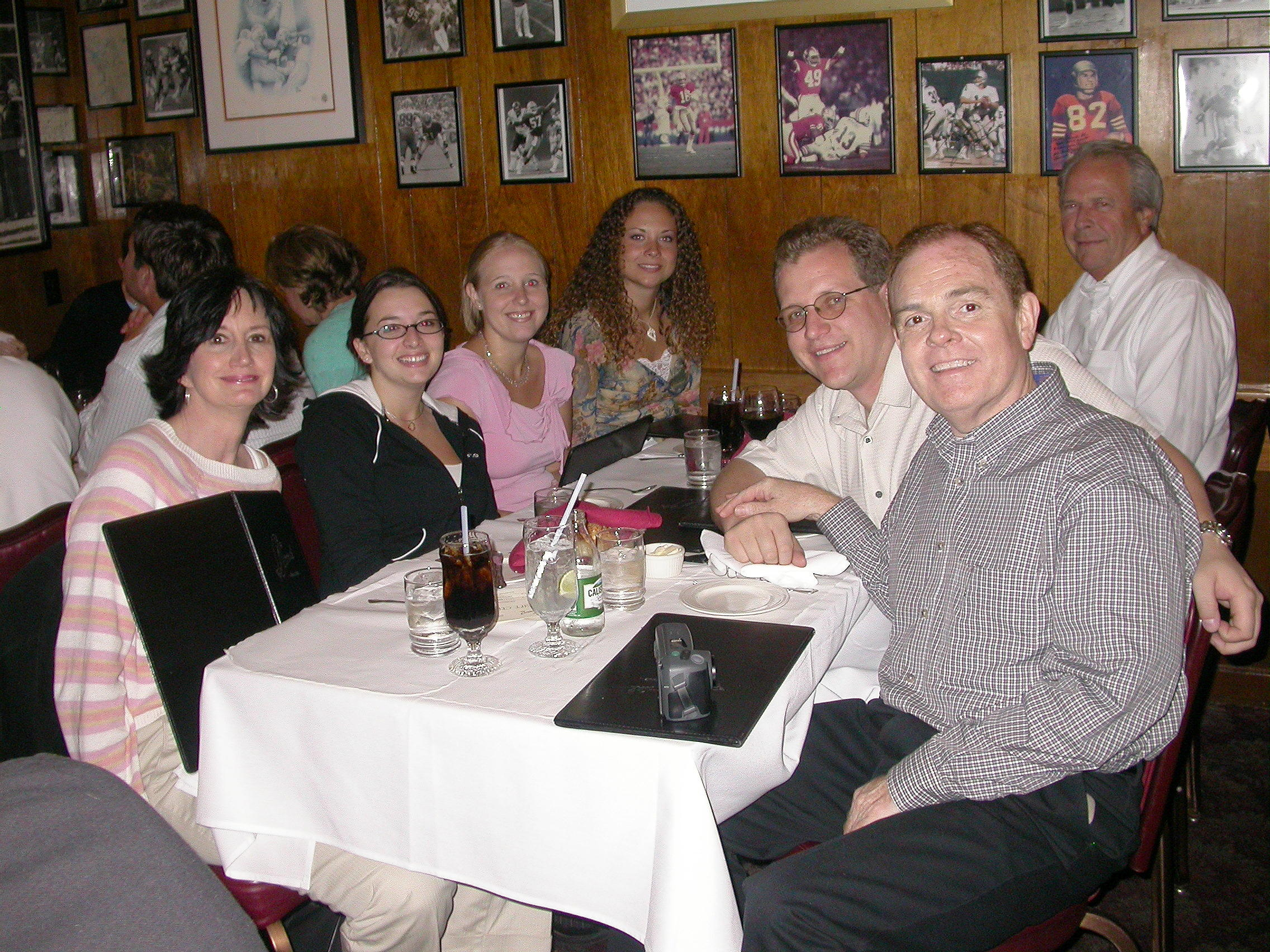 The whole Southgate Coins crew, plus friends, dining at Scoma's