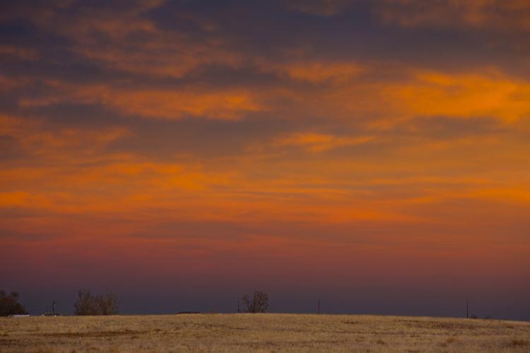 Sunset. Barr Lake State Park. Adams County, Colorado
