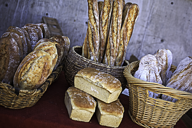 Artisan Bread waits to be sold at the Santa Fe Artisan Market.