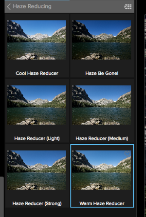 All the potential applications of the Haze Reducing Preset.