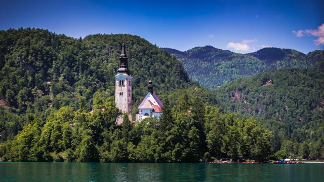 Location and Date: Lake Bled, Slovenia; 26 May 2017  Tech Specs: 115mm @ f/8.0, ISO 100.  4 shot panorama  Camera & Lens: Canon 5D Mark III; Canon EF 70-300mm f/4-5.6 IS USM