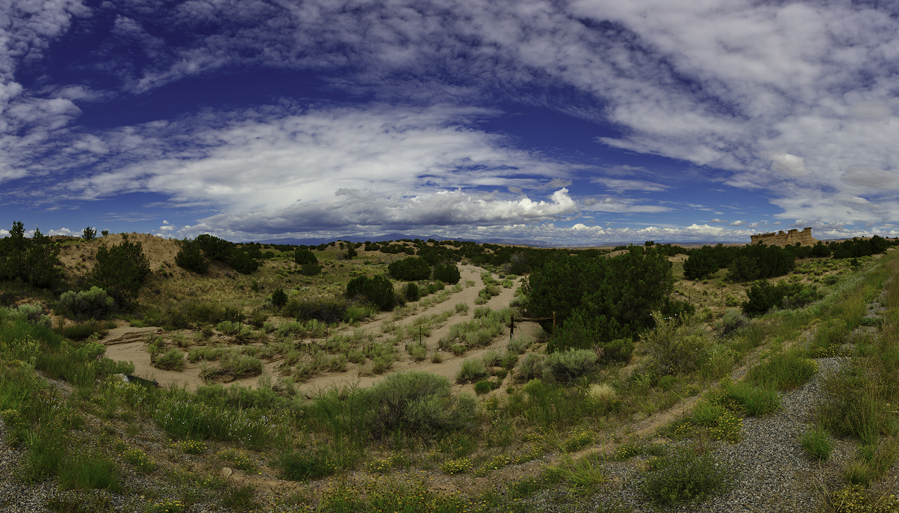 Location and Date: New Mexico, USA; 20 August 2014  Tech Specs: 16 mm @ f/11.0.  ISO 100.  6 Shot Panorama  Camera & Lens: Canon 5D Mark III; Canon EF 16-35mm f/2.8L II USM