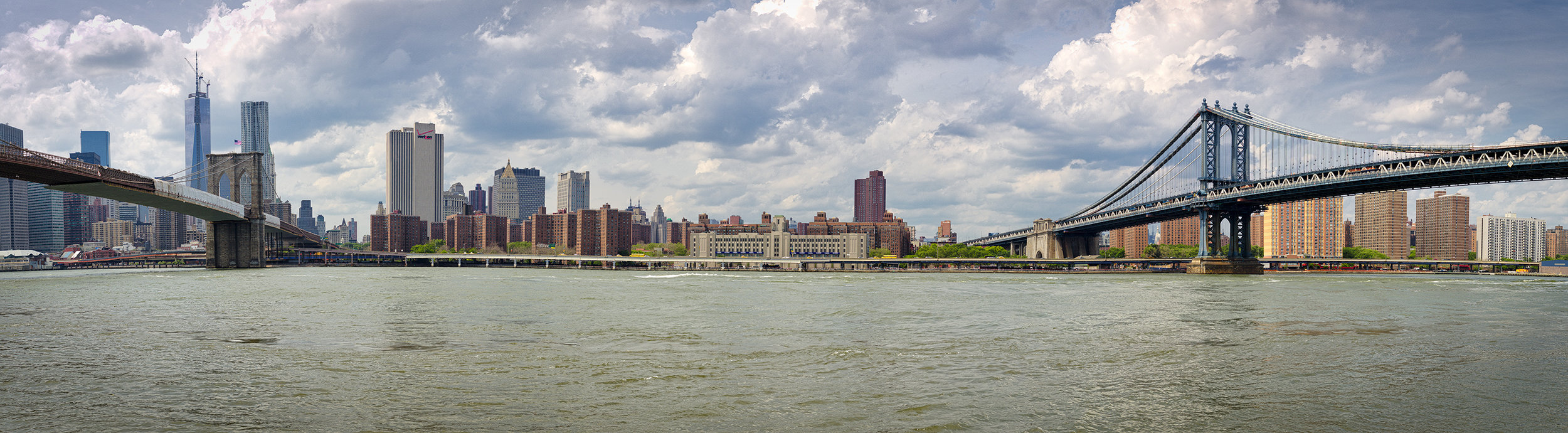 Location and Date: Brooklyn, New York, USA; 02 Jun 2013  Tech Specs: 1/400s @ f/8.0; ISO 100. 13 image panorama  Camera & Lens: Canon 5D Mark III; Canon EF 24-70 f/2.8L USM